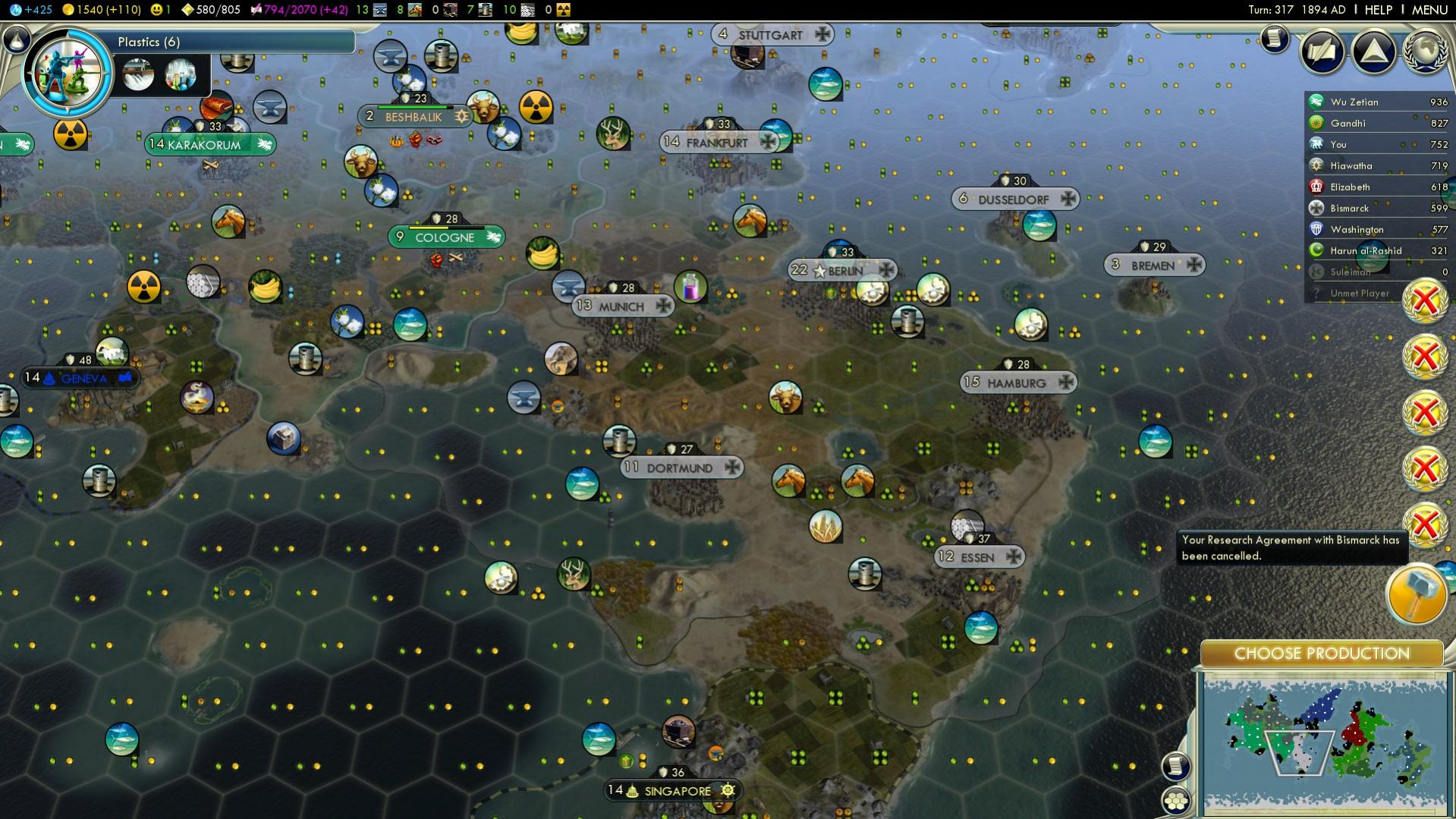 Your Research Agreement With X Has Been Cancelled Civfanatics Forums