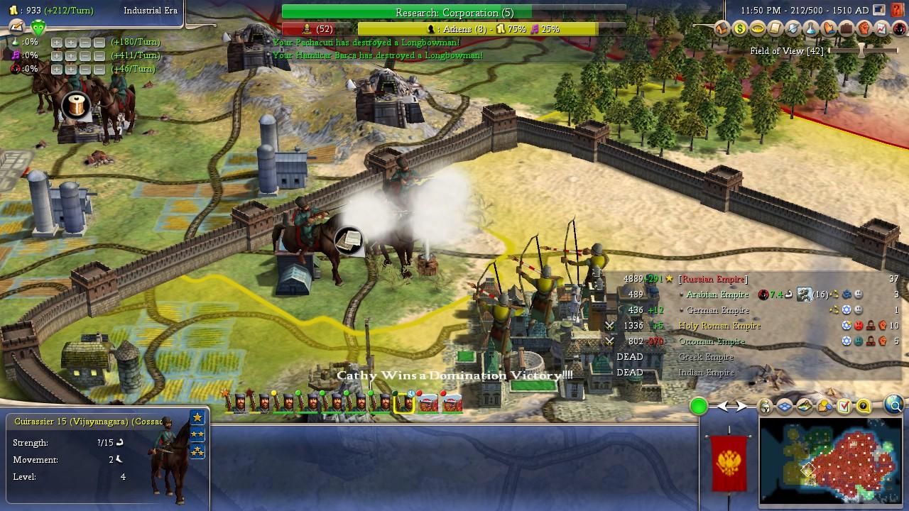 HA -> Cuirasser -> Cossack Domination on Monarch - Am I