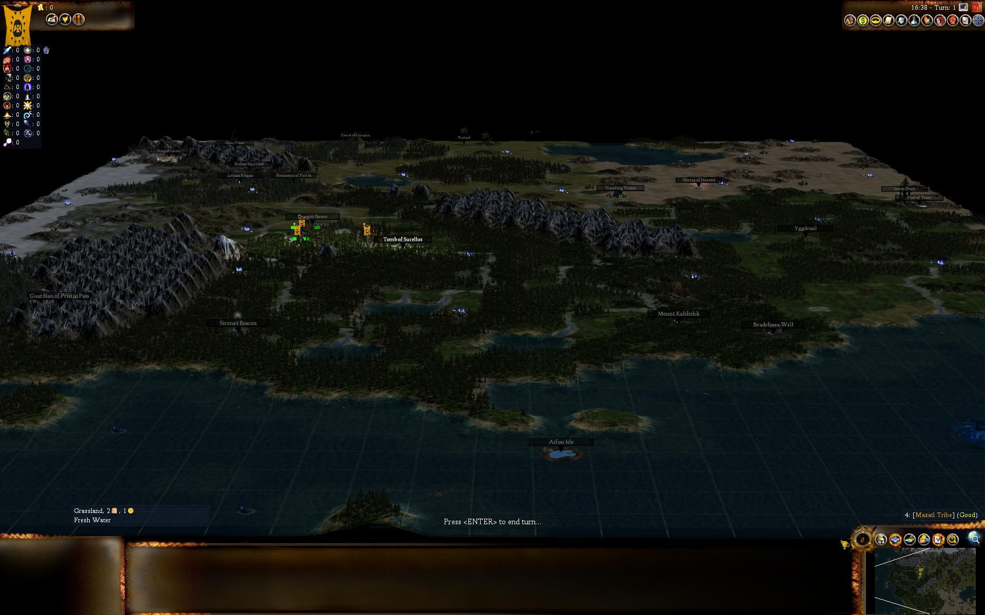 Civ4ScreenShot0024JPG A new map script MountainCoast