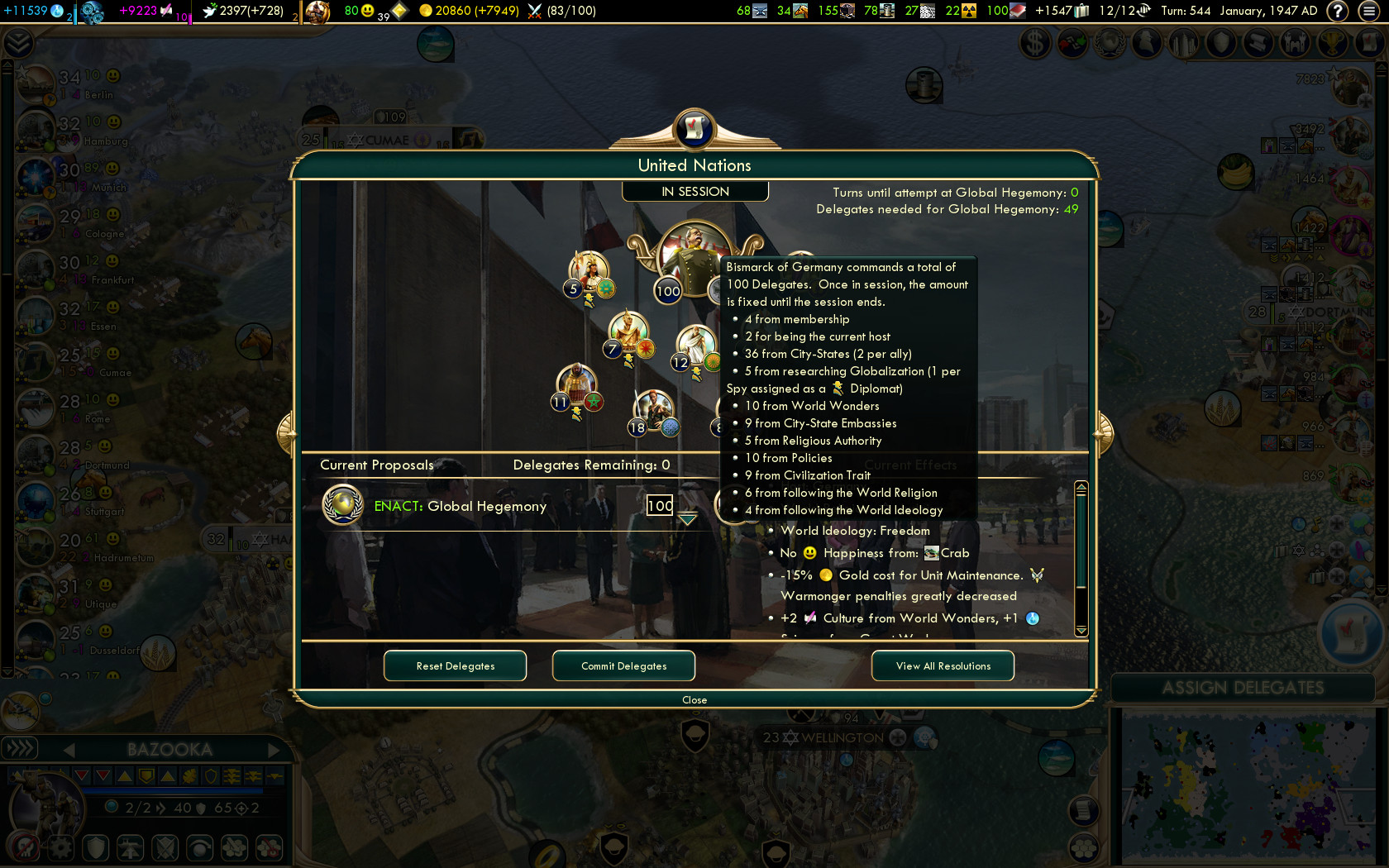 diplomatic victory too easy civfanatics forums rh forums civfanatics com Civ V Tips civ v diplomatic victory strategy