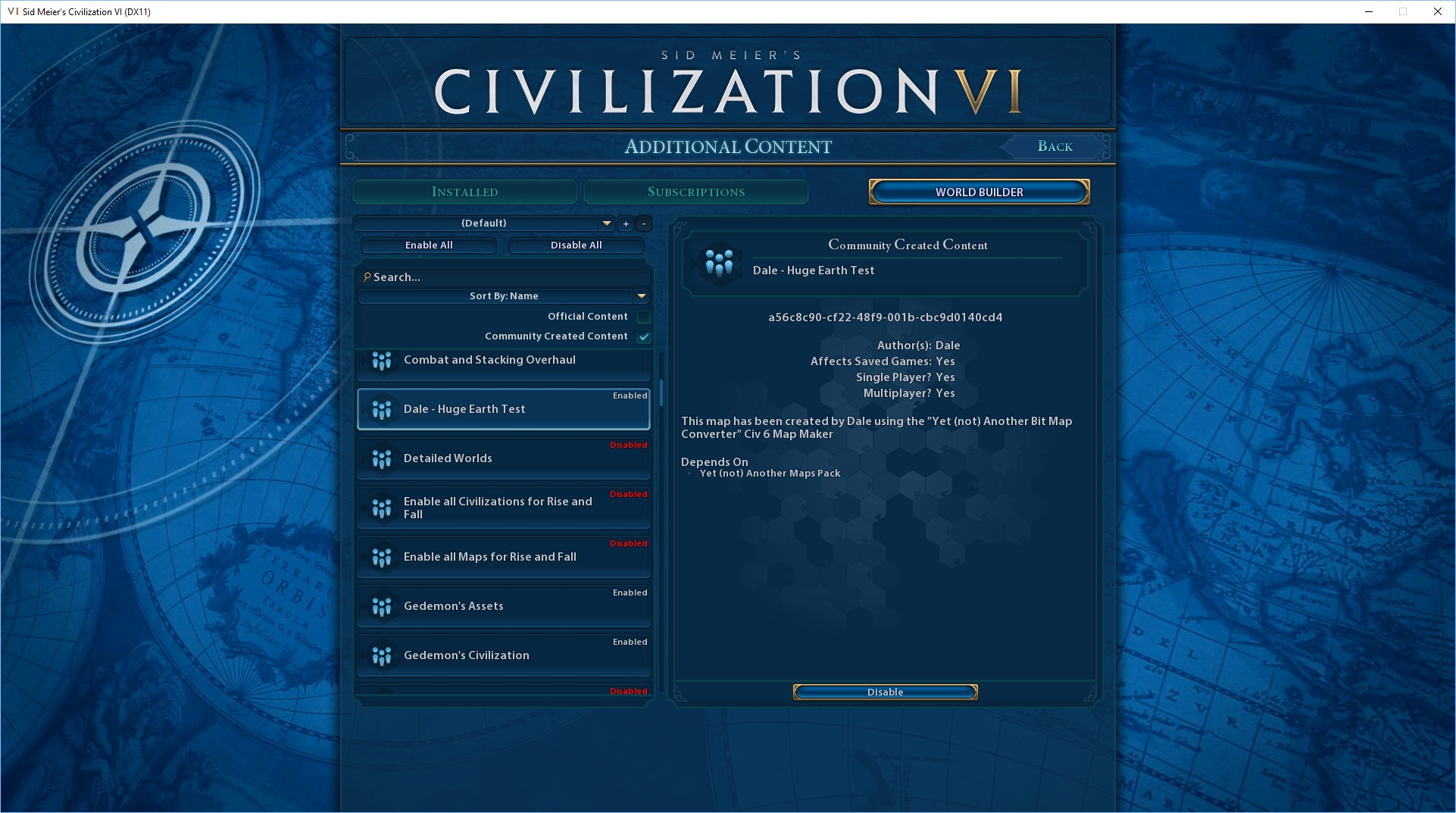 How to import a Civ5 map to Civ6 using Zobtzler's YnABMC and YnAMP