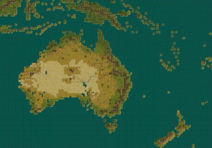 australia map civ 5