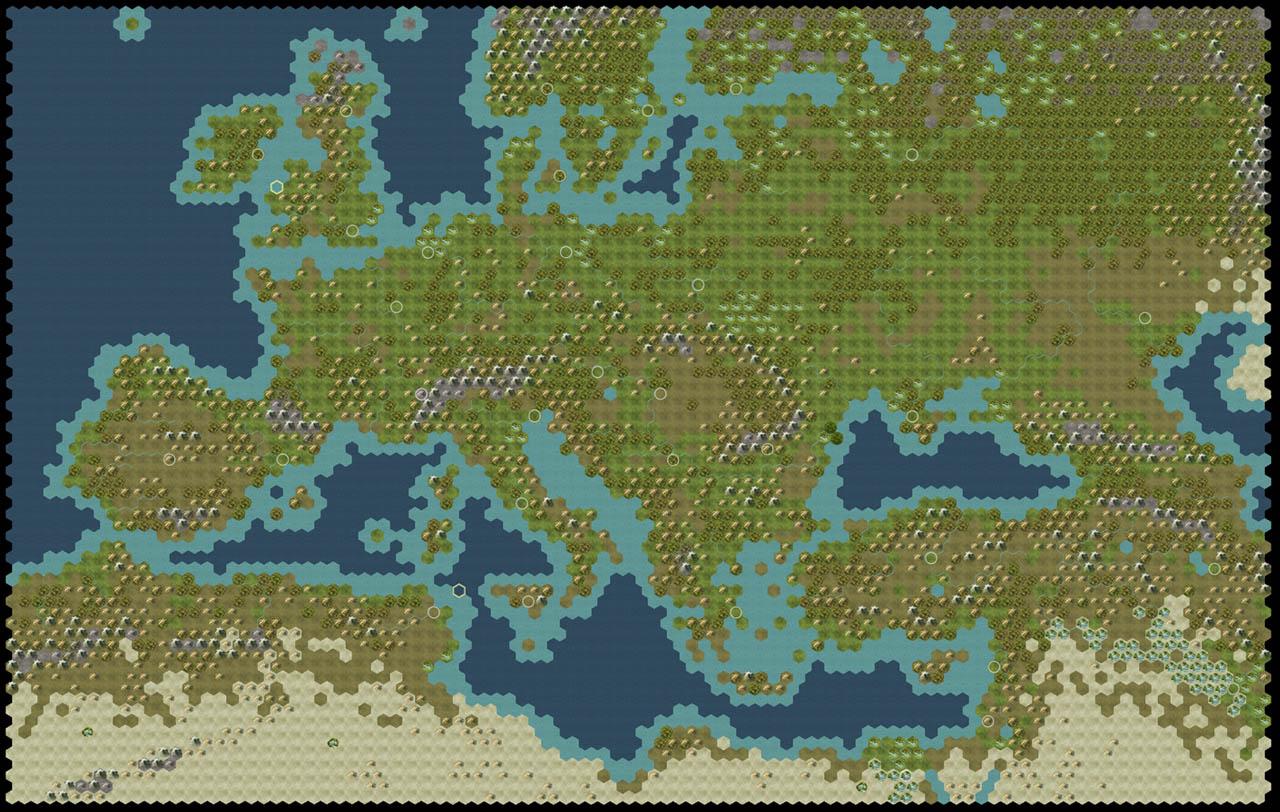 Europe Map Civ 5 Papegaaienparadijs