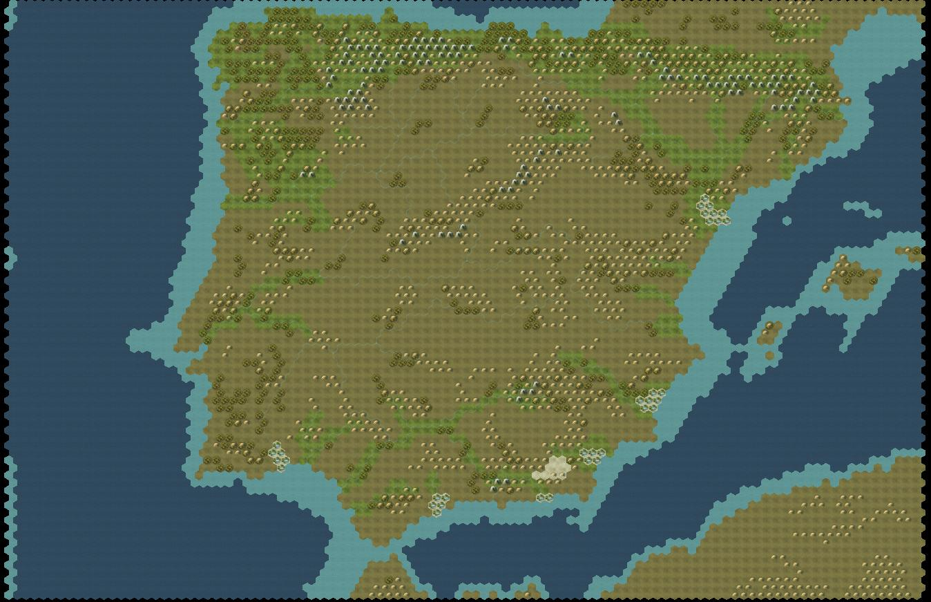 Spanish ( Iberian Peninsula ) Map | CivFanatics Forums