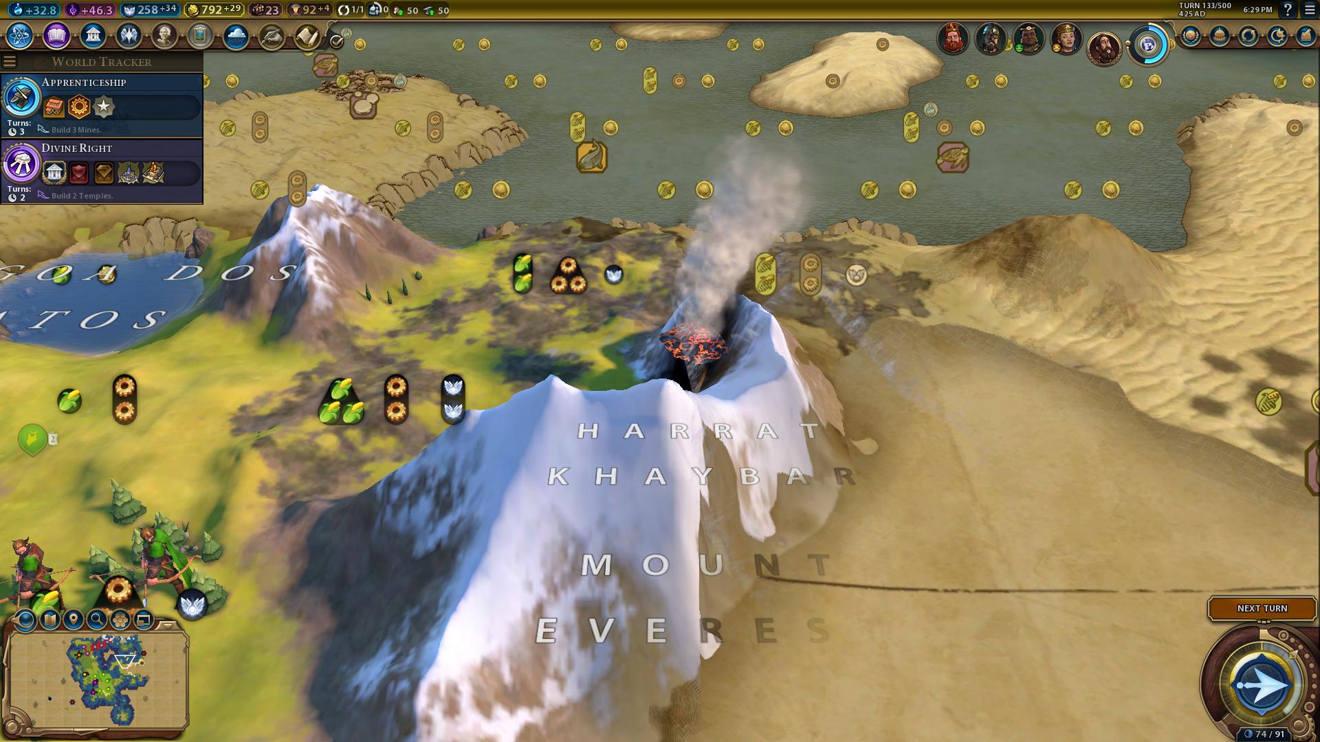 Mount Everest Volcano glitch.png