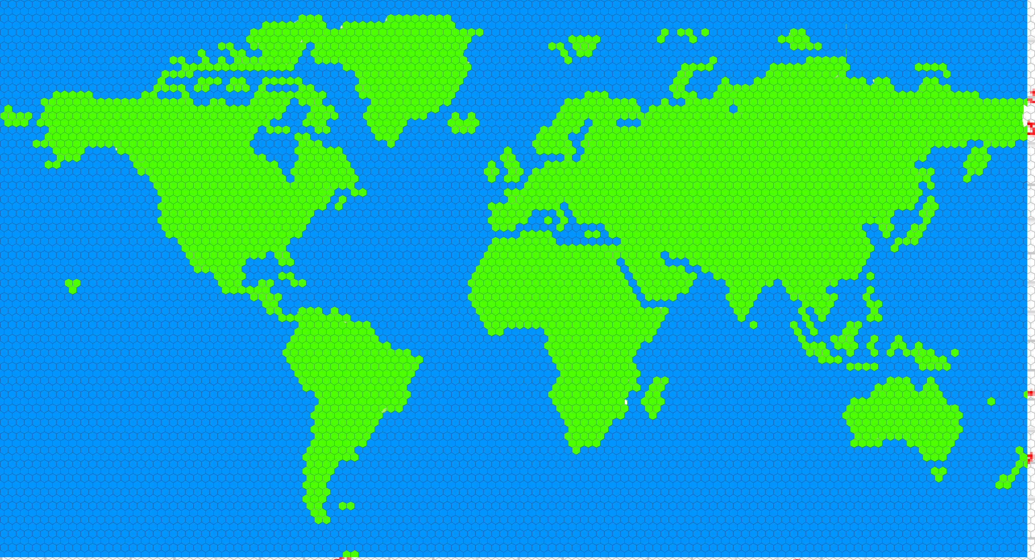 World Map Hex Grid