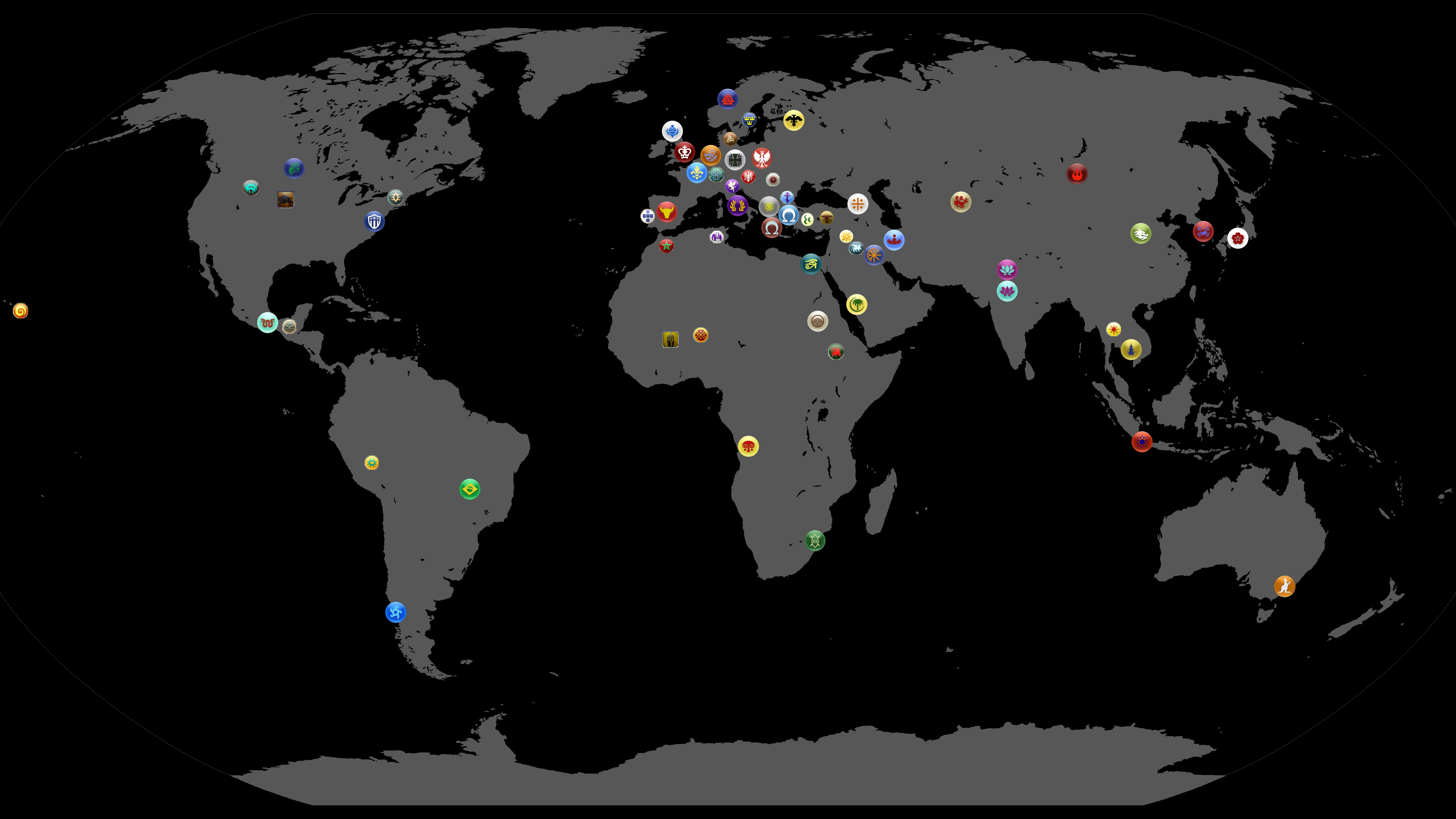 World map every civ civfanatics forums the native american icon from civ4 is a placeholder for the sioux as there were no civ icons in civ2 world map gumiabroncs Image collections